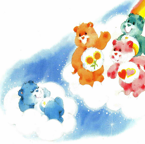 care bears in the clouds
